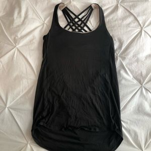 Lululemon Wild tank with built in bra and open back!
